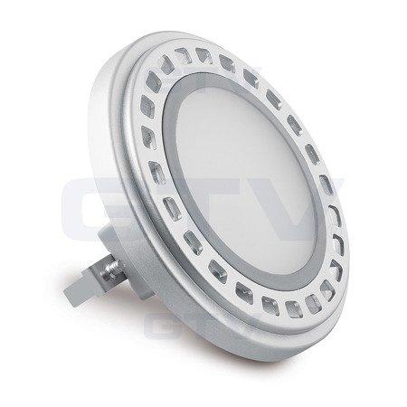 Żarówka LED AR111 G53 12W zamiennik halogenu 63W 12V DC 950lm biała ciepła