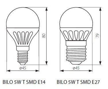 Żarówka LED BILO 3W T SMD E27-WW