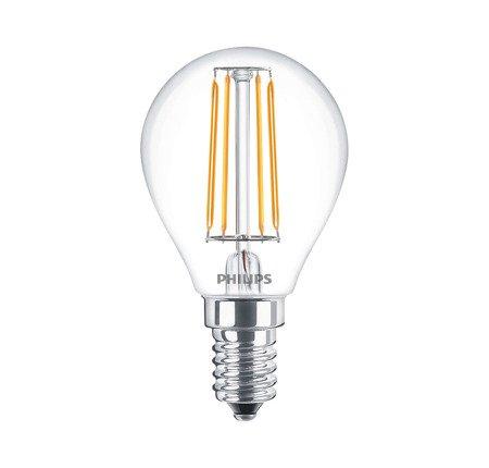 Żarówka LED Philips CLA luster ND 4-40W 470lm P45 E14 827 CL filament