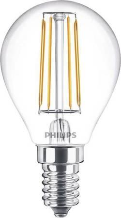 Żarówka LED Philips Classic  40W E14 827 470lm P45 Clear filament