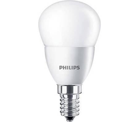 Żarówka LED Philips CorePro lustre 5,5-40W E14 827 470lm P45 Frosted